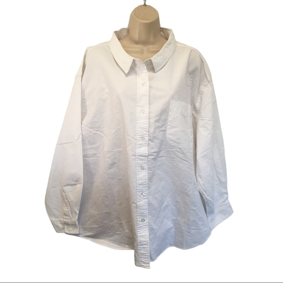 Fresh Produce White Oxford Shirt Top Boxy Oversize